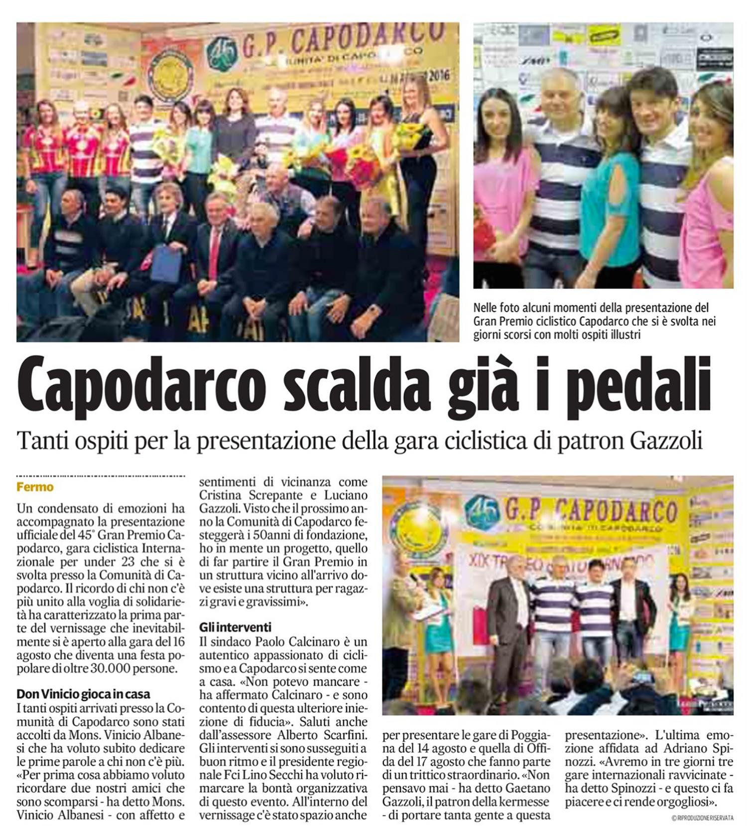 Corriere Adriatico - 18 Maggio 2016